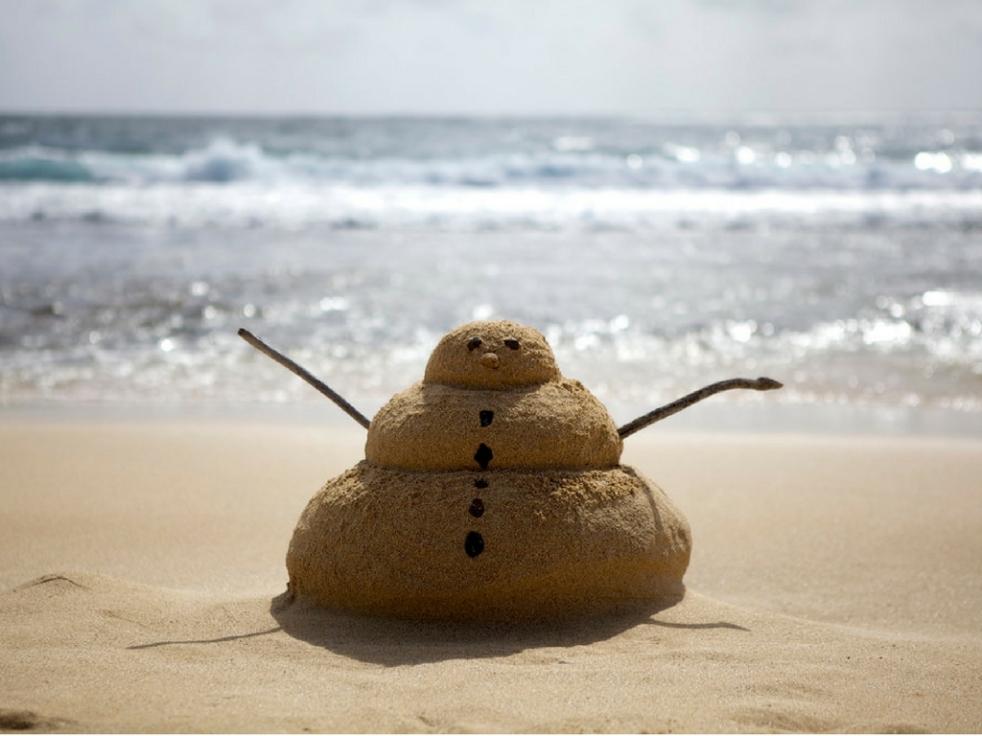 bałwan z piasku